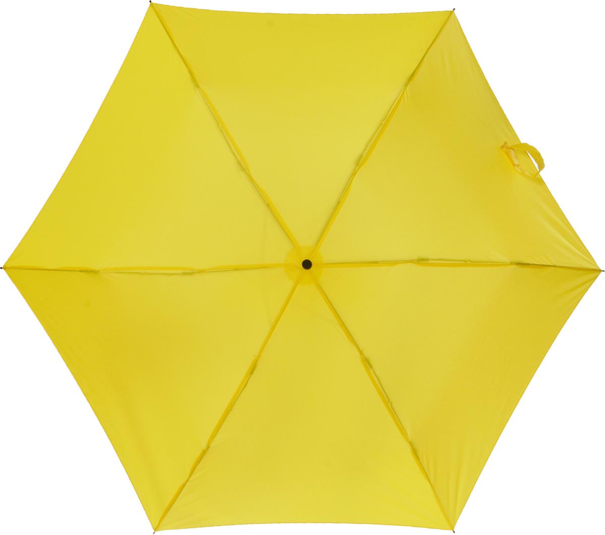 Зонт женский Эврика Банан, механика, 2 сложения, цвет: желтый. 9527695276Оригинальный зонт Эврика надежно защитит вас от дождя. Купол выполнен из высококачественного ПВХ, который не пропускает воду. Каркас зонта выполнен из прочного металла. Зонт имеет механический тип сложения: открывается и закрывается вручную до характерного щелчка. Удобная ручка выполнена из пластика. Диаметр купола в раскрытом виде: 90 см. Высота зонта: 52 см. Материал: нейлон, металл, пластик. Bec: 0,325 кг.