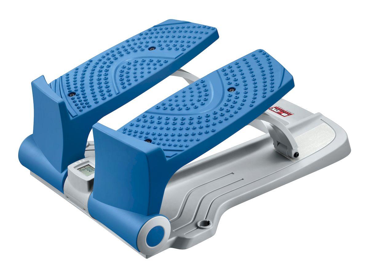 Степпер Sport Elit BS-803 BLA-B EZBS-803EZ степпер Body Sculpture BS-803BLA-B компактный тренажер, предназначенный для использования в домашних условиях. Небольшие размеры и отличная функциональность позволяют использовать этот тренажер для тренировки всех основных групп мышц: ног, бедер, пресса, рук, спины. Встроенный компьютер считывает и сообщает пользователю все основные параметры тренировки, что позволяет планировать тренировки и при необходимости вносить коррективы. Тренировки с использованием EZ степпера Body Sculpture BS-803 не только очень продуктивны, но и довольно интересны: активные динамичные движения не заставят скучать и сделают тренировки приятным времяпрепровождением. Конструкция тренажера очень тщательно продумана и сконструирована таким образом, чтобы сделать тренировку максимально эффективной и избавить пользователя от всех возможных неудобств: широкие педали с нескользящей поверхностью, прочный и долговечный механизм сделают каждую тренировку эффективной и комфортной. На этом министеппере можно...