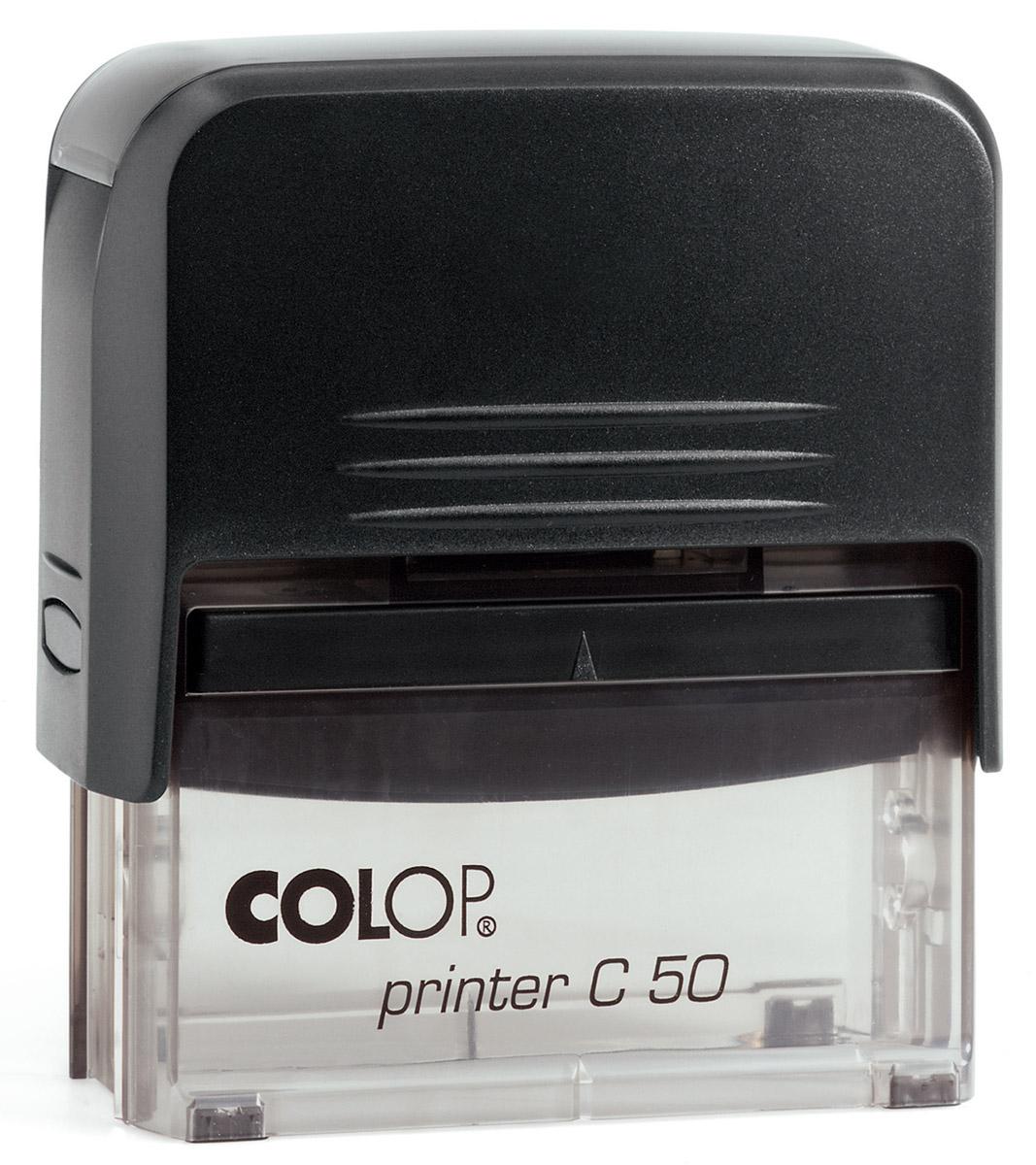 Colop Штамп самонаборный восьмистрочный Printer C50Printer50-SETСамонаборный восьмистрочный штамп Colop Printer C50 используется для самостоятельного набора и изменения текста. Крепление символов на одной ножке. Имеет рамку. Штампы, модифицированные рамкой, могут использоваться как с рамкой, так и без. Кол-во строк - 8 (6), кол-во знаков в строке - 43 (36)/30 (23). В комплекте пластиковый корпус с автоматическим окрашиванием, кассы букв Type Set A и Type Set B, сменная штемпельная подушка 30 мм х 69 мм (код С10898), пинцет.