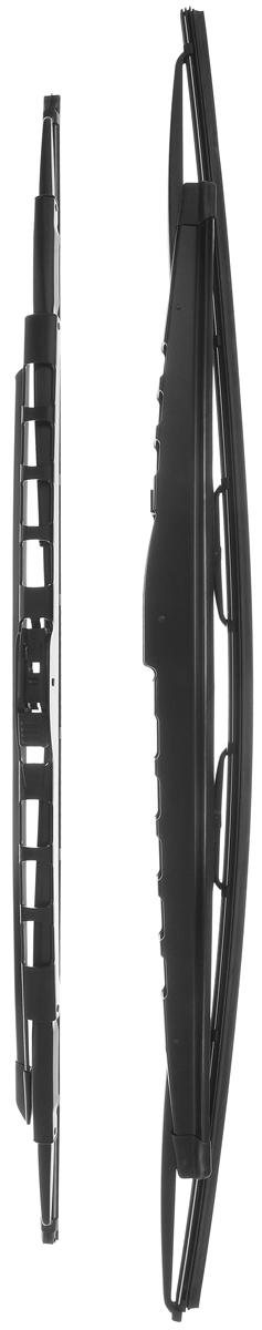 Щетка стеклоочистителя Bosch 359S, каркасная, со спойлером, длина 62,8/70,5 см, 2 шт3397001359Комплект Bosch 359S состоит из двух щеток разной длины, выполненных по современной технологии из высококачественных материалов. Они обеспечивают идеальную очистку стекла в любую погоду. TWIN Spoiler - серия классических каркасных щеток со спойлером. Эти щетки имеют полностью металлический каркас с двойной защитой от коррозии и сверхточный профиль резинового элемента с двумя чистящими кромками. Спойлер, выполненный в виде крыла, закрывает каркас щетки от воздушного потока. У данной модели спойлер предусмотрен на двух щетках стеклоочистителя. Комплектация: 2 шт. Длина щеток: 62,8 см; 70,5 см.