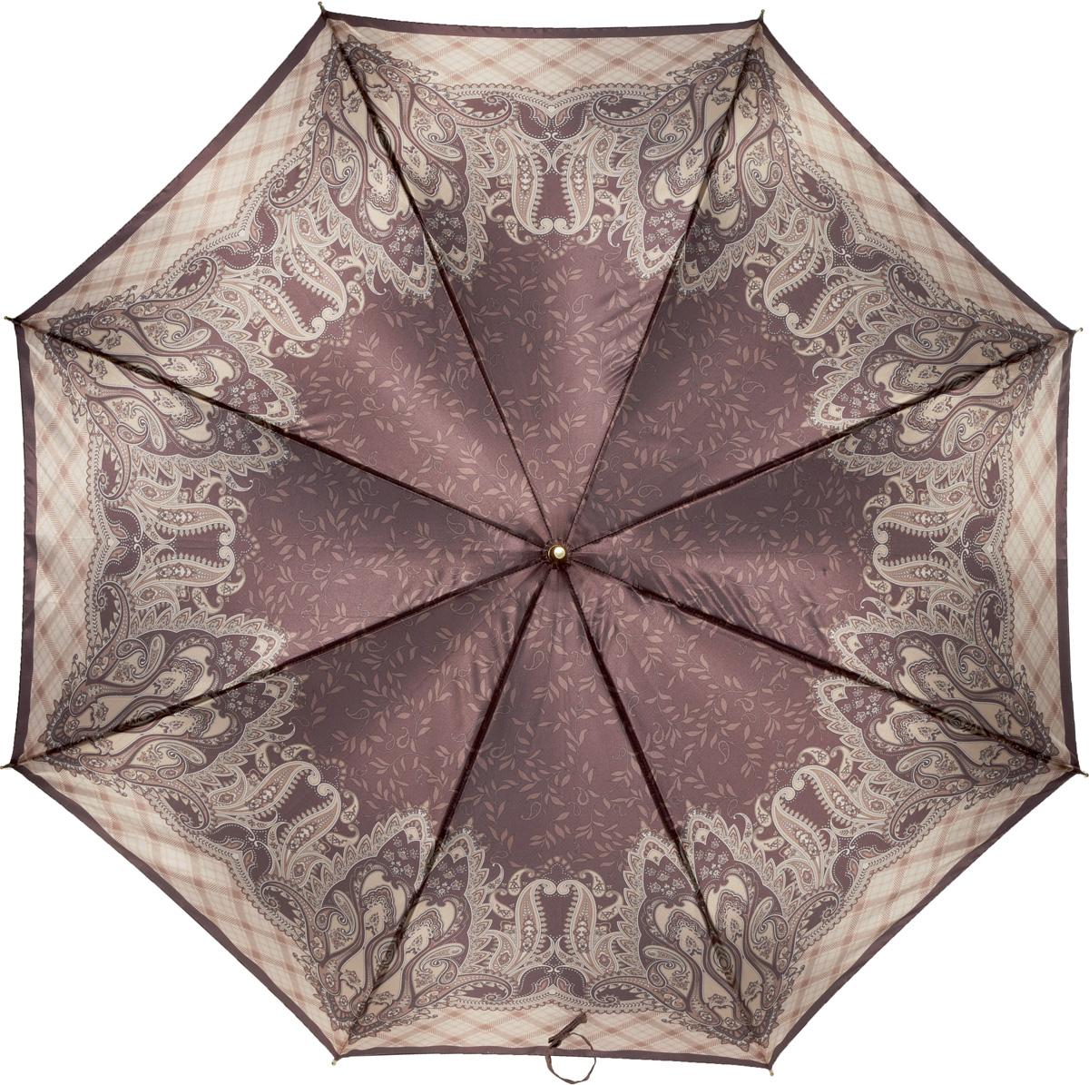 Зонт-трость женский Fabretti, механика, цвет: мультиколор. 16098L035081M/35449/2900NЖенский зонт-трость от итальянского бренда Fabretti. Конструкция модели - механика. Эксклюзивный дизайнерский принт зонта сделает вас неотразимыми в любую непогоду. Материал купола - полиэстер. Он невероятно изящен, приятен на ощупь, обладает высокой прочностью, а также устойчив к выцветанию. Эргономичная ручка сделана из высококачественного пластика.