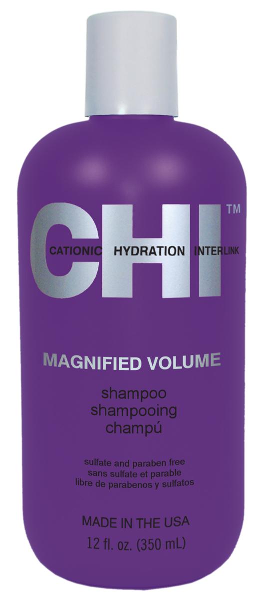 CHI Шампунь Усиленный объем Magnified Volume 350млCHI5600Предназначен для придания максимального объёма тонким и недостаточно густым волосам. Обеспечивает насыщение волоса протеинами и керамикой CHI44, повышение плотности и упругости стержня волоса. В основе действия системы: керамика CHI44 – сплав 44-х неорганических элементов, созданный компанией Farouk Systems, совместно с экспертами NASA. На сегодняшний день – это одни из самых совершенных и экологичных материалов, созданных человеком. Обеспечивает глубокое проникновение в волос протеинов и максимально укрепляет волосы.