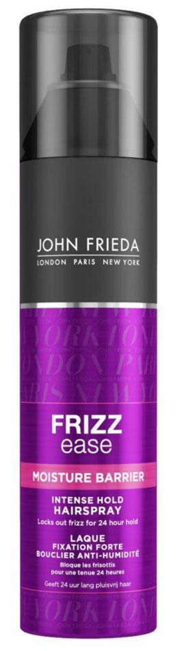 John Frieda Frizz-Ease Лак для волос сильной фиксации с защитой от влаги и атмосферных явлений, 250 млjf113330Надежно защищает кудрявые волосы и укладку от воздействия влажности на срок до 24 часов. Быстросохнущий лак сохранит самую сложную прическу и обеспечит устойчивый результат укладки до 24 часов в любую погоду, усмиряя самые непослушные вьющиеся и волнистые волосы. Лак сверхсильной фиксации создает барьер и предотвращает появление непослушных завитков после укладки на 24 часа, защищает от воздействия влаги и атмосферных явлений. Содержит Кератин и UV-фильтр. Применение: Перед использованием хорошо встряхните флакон. Держите его вертикально и распыляйте на расстоянии 25-30 см от волос, чтобы завершить и зафиксировать укладку. Характеристики: Объем: 250 мл. Производитель: Великобритания. Товар сертифицирован.