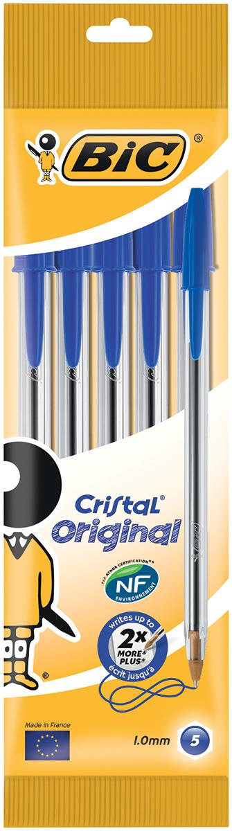 Bic Набор шариковых ручек Cristal цвет чернил синий 4 штB8308601Набор шариковых ручек Bic Cristal станет незаменимым атрибутом в учебе любого школьника и на работе. В наборе 4 шариковые ручки с колпачками, цвет чернил - синий. Эта ручка служит минимум вдвое дольше, чем любая другая аналогичная ручка. Толщина ее корпуса является идеальной для средней человеческой руки.