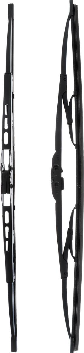 Щетка стеклоочистителя Bosch 500, каркасная, длина 50 см, 2 шт3397118560Щетка Bosch 500, выполненная по современной технологии из высококачественных материалов, оптимально подходит для замены оригинальных щеток, установленных на конвейере. Обеспечивает идеальную очистку стекла в любую погоду. TWIN - серия классических каркасных щеток от компании Bosch. Эти щетки имеют полностью металличеcкий каркас с двойной защитой от коррозии и сверхточный профиль резинового элемента с двумя чистящими кромками. Комплектация: 2 шт.