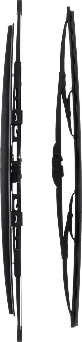Щетка стеклоочистителя Bosch 532S, каркасная, со спойлером, длина 50/53 см, 2 шт3397118404Комплект Bosch 532S состоит из двух щеток разной длины, выполненных по современной технологии из высококачественных материалов. Они обеспечивает идеальную очистку стекла в любую погоду. TWIN Spoiler - серия классических каркасных щеток со спойлером от компании Bosch. Эти щетки имеют полностью металлический каркас с двойной защитой от коррозии и сверхточный профиль резинового элемента с двумя чистящими кромками. Спойлер выполнен в виде крыла, который закрывает каркас щетки от воздушного потока. Комплектация: 2 шт. Длина щеток: 50 см; 53 см.