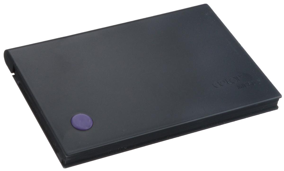 Colop Настольная штемпельная подушка цвет фиолетовый 90 х 160 ммMICRO3 фНастольная штемпельная подушка Colop имеет пластиковый корпус без замка. Заправлена краской на водной основе с содержанием глицерина. Используется для окрашивания ручных штампов, изготовленных из резины или полимера. Цвет - фиолетовый.
