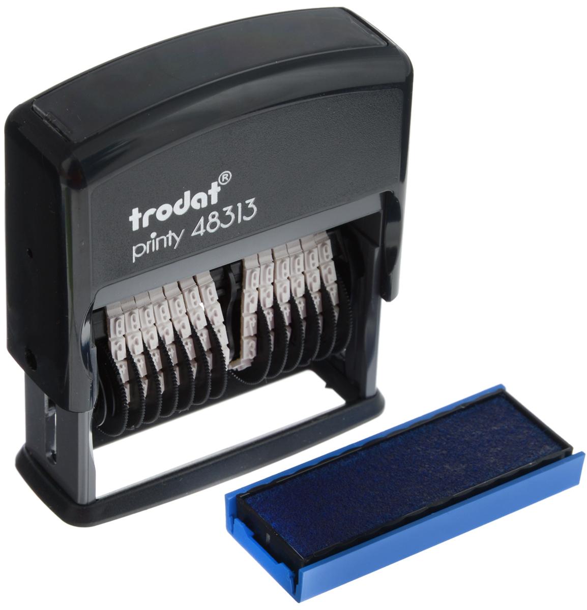 Trodat Нумератор тринадцатиразрядный 3,8 мм 48313