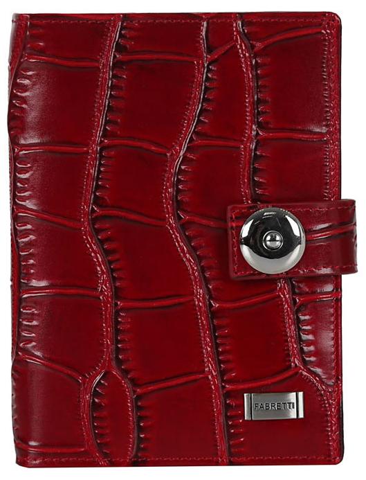 Обложка для документов женская Fabretti, цвет: красный. 53003/1-red-cocco021201_01Женская обложка для документов Fabretti выполнена из натуральной кожи с тиснением.Изделие раскладывается пополам и закрывается на хлястик с кнопкой. Обложка содержит съемный блок из шести прозрачных файлов из мягкого пластика, один из которых формата А5, два боковых прозрачных кармана и отделение для паспорта с тремя боковыми карманами и пятью кармашками для пластиковых карт, один из которых с прозрачным окошком.Изделие упаковано в фирменную коробку.Модная обложка для документов поможет сохранить их внешний вид и защитить от повреждений.