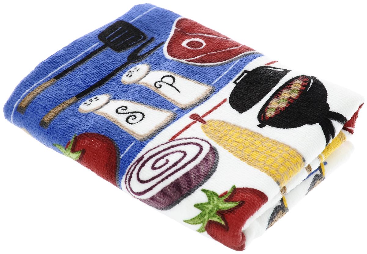Полотенце кухонное Sunvim Барбекю, 40 х 70 см09-40ВКухонное полотенце Sunvim Барбекю, выполненное из 100% хлопка, оформлено ярким рисунком. Изделие предназначено для использования на кухне и в столовой. Такое полотенце станет отличным вариантом для практичной и современной хозяйки.