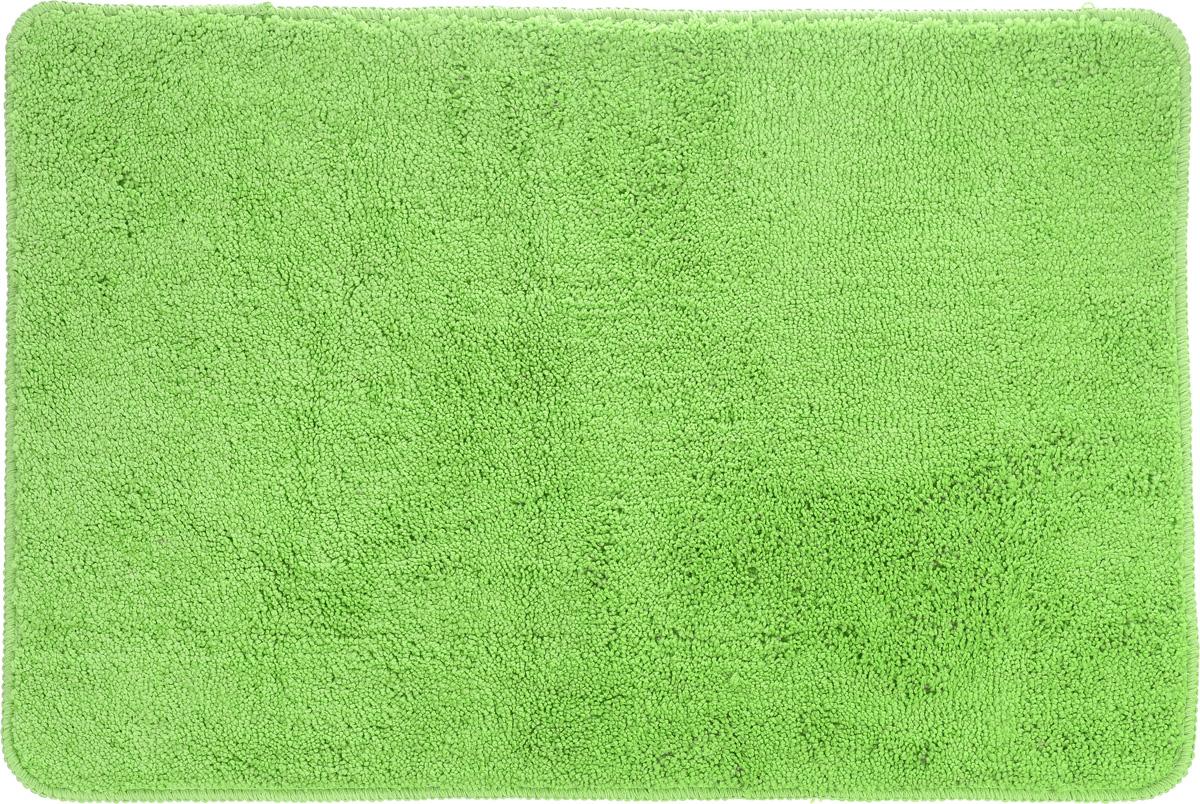Коврик для ванной комнаты Aqva Line Лето, цвет: салатовый, 50 х 75 см130005BКоврик для ванной комнаты Aqua Line Лето, выполненный из мягкой микрофибры, хорошо впитывает влагу, быстро высыхает, сохраняет первоначальные свойства даже при многочисленных стирках. Благодаря специальной основе из латекса не скользит на гладких и влажных поверхностях. Коврик имеет прошитый кант по периметру. Мягкий цветной коврик Aqua Line Лето создаст атмосферу уюта в вашей ванной комнате.