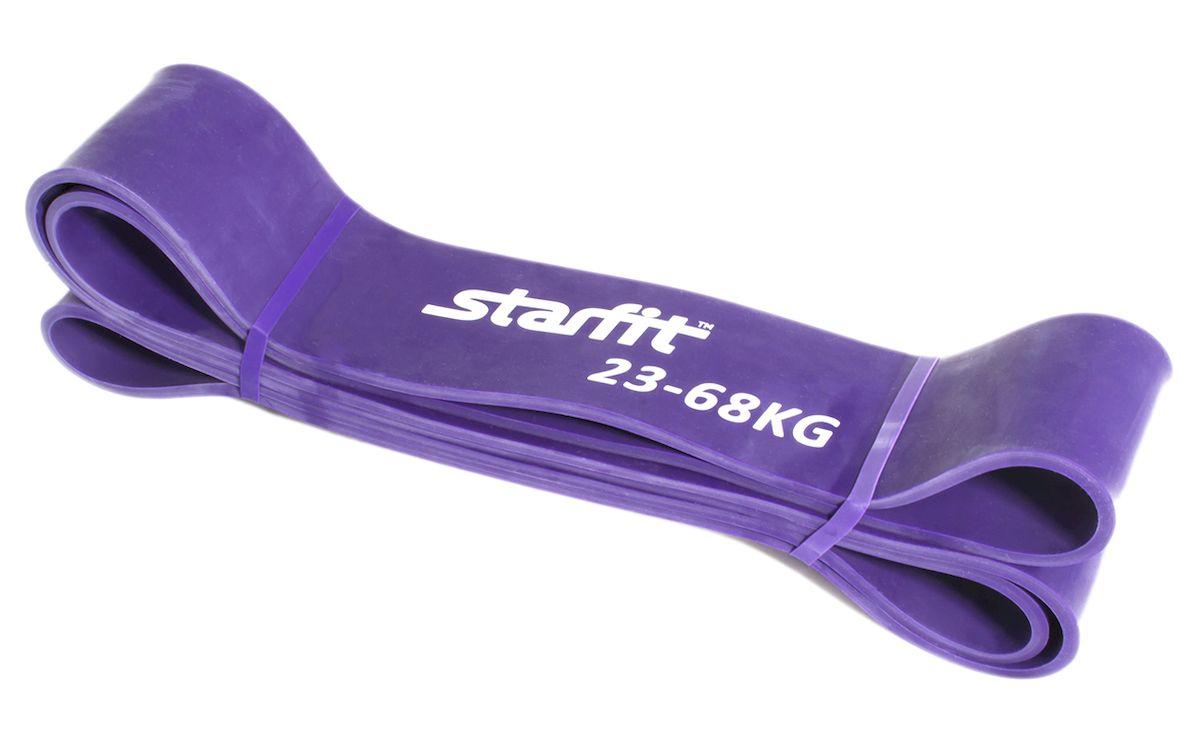 Петля резиновая Starfit ES-801, цвет: фиолетовый, 208 х 6,4 х 0,5 смGESS-132Петля резиновая Star Fit ES-801 - это взятие новых рубежей на ваших тренировках. Петля выполнена из высококачественной резины. Изделие используется для тренировки силы, улучшения подвижности и снижения болевой симптоматики. Широко и активно используется для функциональных тренировок (crossfit).Натяжение: 23-68 кг.