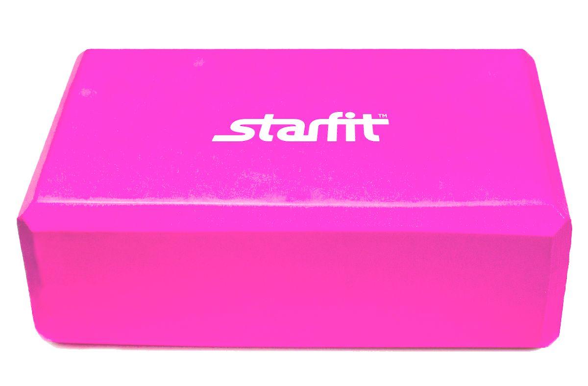 """Блок для йоги Starfit """"FA-101"""", цвет: розовый, 22,5 х 15 х 7,8 см УТ-00008668"""