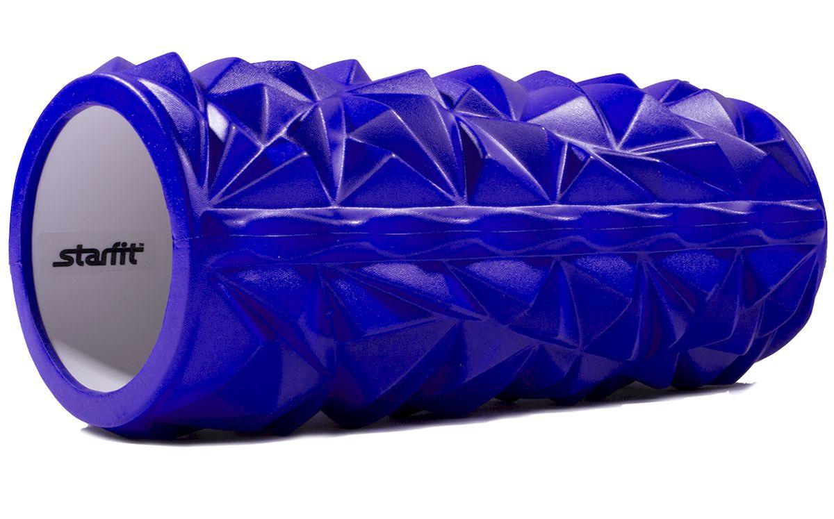 """Ролик массажный Starfit """"FA-504"""", цвет: синий, 33 х 14 х 14 см"""