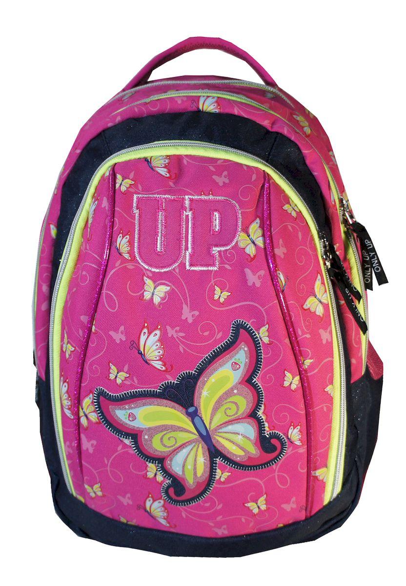 Рюкзак женский UFO people, цвет: розовый. 21 л. 10701D-212/45Рюкзак городской UFO people выполнен из высококачественного нейлона и оформлен оригинальным принтом. Изделиеимеетсветоотражающие шевроны и уплотненное дно. Рюкзак оснащен ручкой для подвешивания и удобными лямками, длина которых регулируется с помощью пряжек. Внутри расположено два вместительных отделения и отделение для ноутбука.