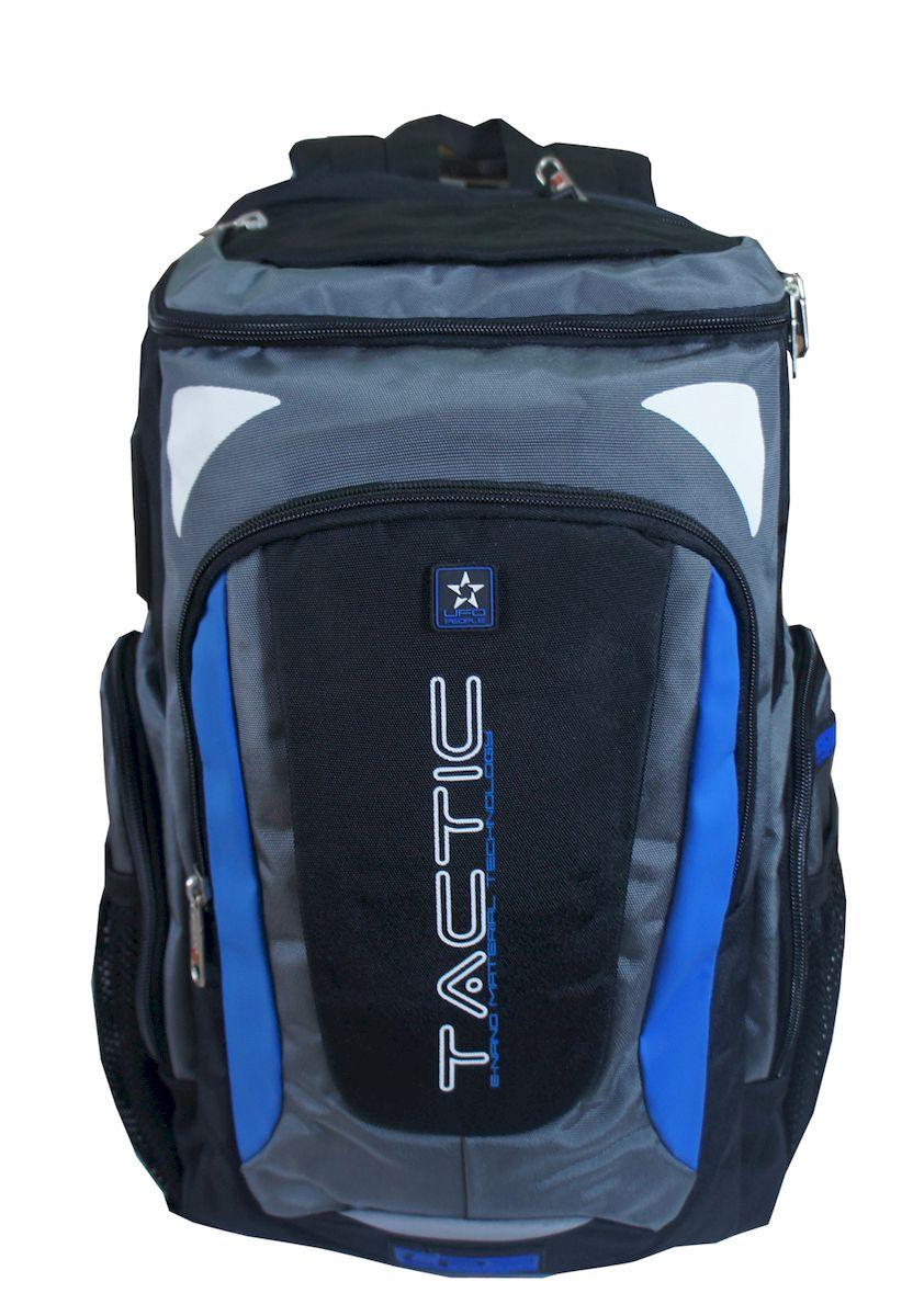 Рюкзак спортивный UFO people, цвет: синий. 23 л. 459-3RD-418-1/4Рюкзак городской UFO people выполнен из высококачественного нейлона и оформлен фирменной надписью.Изделиеимеет мягкие вставки на спинке, нагрудный фиксатор лямок и уплотненное дно. Рюкзак оснащен ручкой для подвешивания и удобными лямками, длина которых регулируется с помощью пряжек. На боковых сторонах расположены карманы на молниях. Внутри расположено два вместительных отделения на молнии.