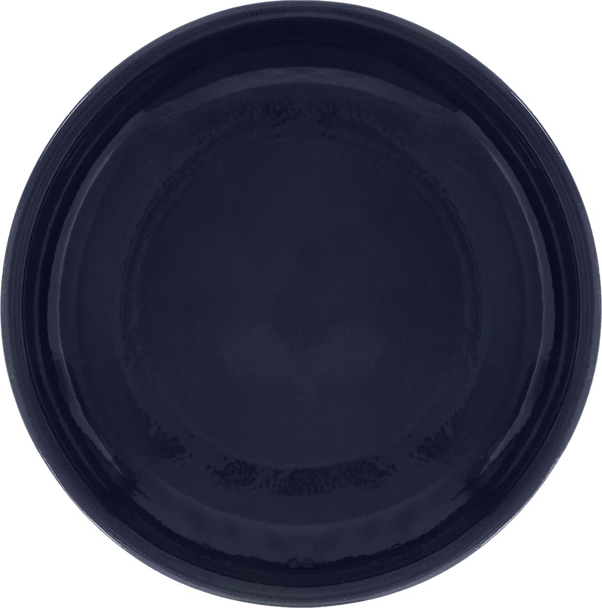 Тарелка Борисовская керамика Радуга, цвет: темно-синий, диаметр 18 смРАД00000458_темно-синийТарелка Борисовская керамика Радуга, изготовленная из глины, имеет изысканный внешний вид. Лаконичный дизайн придется по вкусу и ценителям классики, и тем, кто предпочитает утонченность. Такая тарелка идеально подойдет для сервировки стола, а также для запекания вторых блюд в духовке. Тарелка Борисовская керамика Радуга впишется в любой интерьер современной кухни и станет отличным подарком для вас и ваших близких. Можно использовать в микроволновой печи и духовке. Диаметр (по верхнему краю): 18 см.