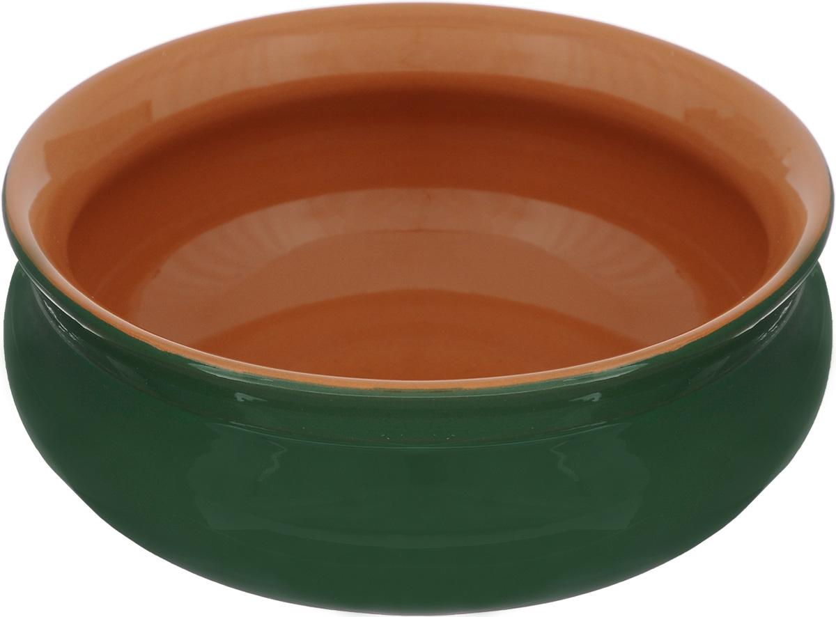 Тарелка глубокая Борисовская керамика Скифская, цвет: зеленый, 500 млРАД14458194_зелёныйГлубокая тарелка Борисовская керамика Скифская выполнена из керамики. Изделие сочетает в себе изысканный дизайн с максимальной функциональностью. Она прекрасно впишется в интерьер вашей кухни и станет достойным дополнением к кухонному инвентарю. Такая тарелка подчеркнет прекрасный вкус хозяйки и станет отличным подарком. Можно использовать в духовке и микроволновой печи. Диаметр тарелки (по верхнему краю): 14 см. Объем: 500 мл.