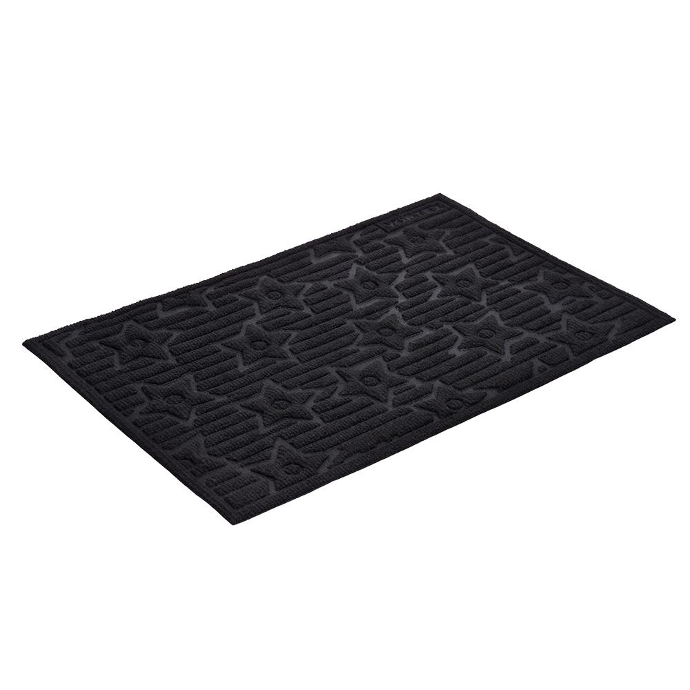 Коврик придверный Vortex Greek, рельефный, цвет: черный, 40 х 60 см10503Ворс коврика Vortex изготовлен из 100% полипропилена. Коврик оснащен выполненной из резины подложкой. Коврик Vortex гармонично впишется в интерьер вашего дома и создаст атмосферу уюта и комфорта. Изделие отлично подойдет как для использования в доме, так и снаружи.