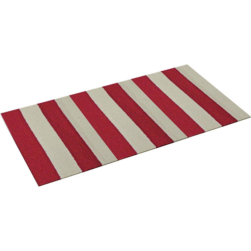 Коврик Vortex Dublin, цвет: красный, белый, 50 х 80 см22437Ворс коврика Vortex изготовлен из 100% полипропилена. Коврик оснащен выполненной из латекса подложкой, которая препятствует скольжению. Коврик Vortex гармонично впишется в интерьер вашего дома и создаст атмосферу уюта и комфорта. Изделие отлично подойдет как для использования в доме, так и снаружи.