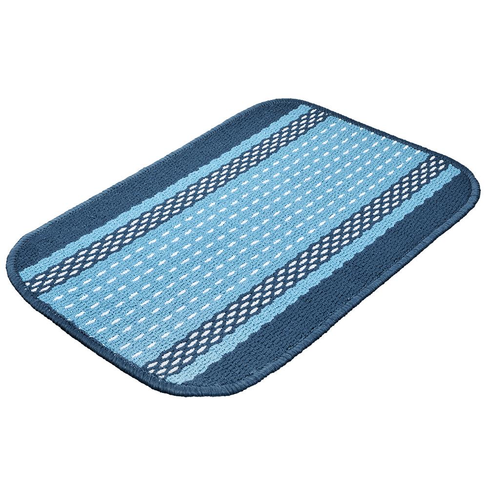 Коврик Vortex Madrid, цвет: синий, 40 х 60 смFS-91909Ворс коврика Vortex изготовлен из 100% полипропилена. Он оформлен ярким рисунком. Коврик оснащен выполненной из латекса подложкой, которая препятствует скольжению. Коврик Vortex гармонично впишется в интерьер вашего дома и создаст атмосферу уюта и комфорта. Изделие отлично подойдет как для использования в доме, так и снаружи.