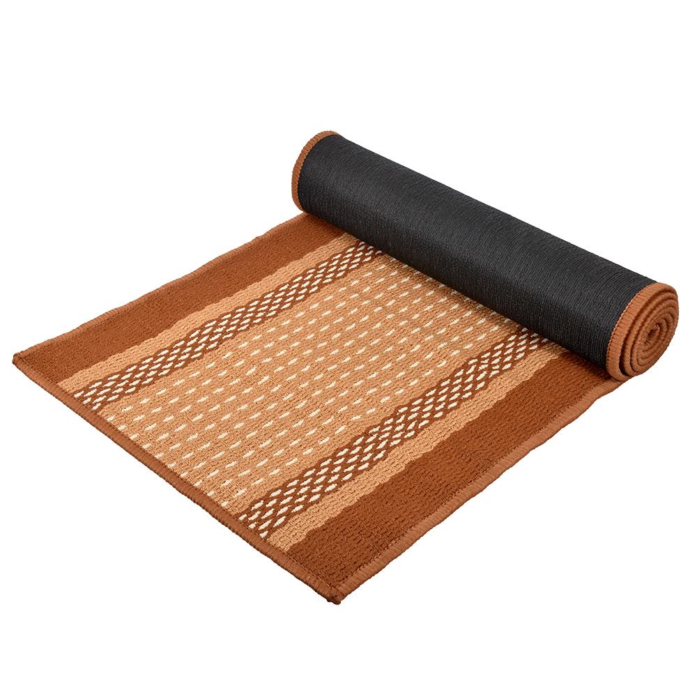 Коврик Vortex Madrid, 50х190 см, цвет: темно-коричневый22450Ворс - 100% Полипропилен. Подложка - 100% латекс.