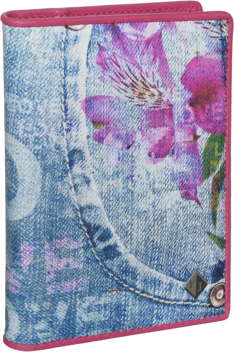Обложка для паспорта и автодокументов женская Flioraj, цвет: голубой. 136-Jeans136-JeansУдобная и практичная обложка для паспорта и автодокументов от Flioraj выполнена из натуральной кожи высокого качества. Она украшена стильным фотопринтом в виде цветов на джинсовом фоне и пластиной с логотипом фирмы. Обложка содержит два прозрачных клапана для фиксации паспорта. Также внутри располагается съемный блок с файлами разного размера для автодокументов. Такая яркая и оригинальная обложка не только поможет сохранить внешний вид документов, но и станет стильным аксессуаром, идеально подходящим вашему образу. Обложка для паспорта и автодокументов может стать отличным подарком.