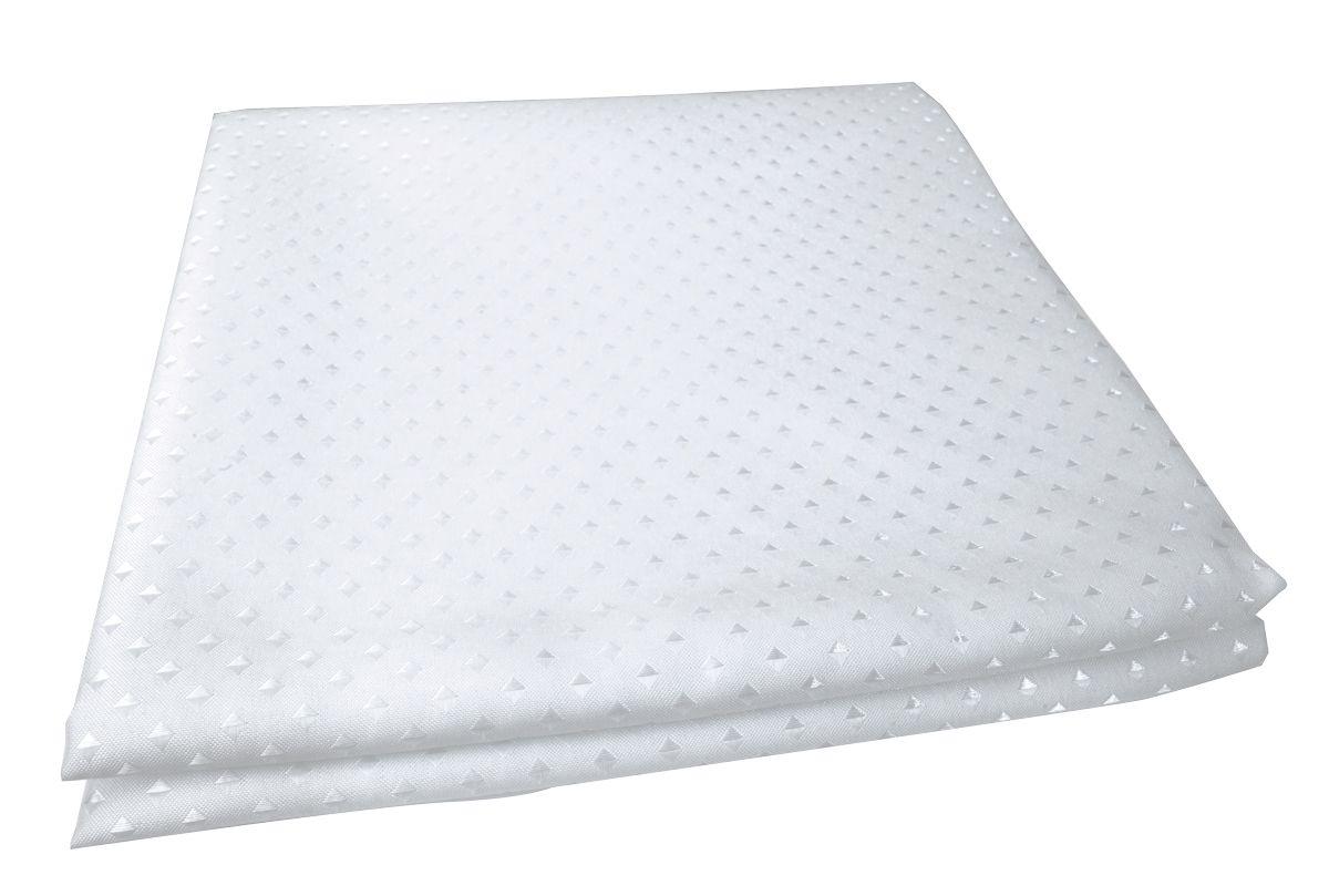 Штора для ванной комнаты Vanstore Star, цвет: белый, 180 х 180 см600-10Занавеска STAR белая 100% полиэстр. Размер 180х180 см. Водонепроницаема. Снабжена утяжеляющей полоской, не позволяющей занавеске мяться. Плотность: 100 gsm. Крепления в комплект не входят.