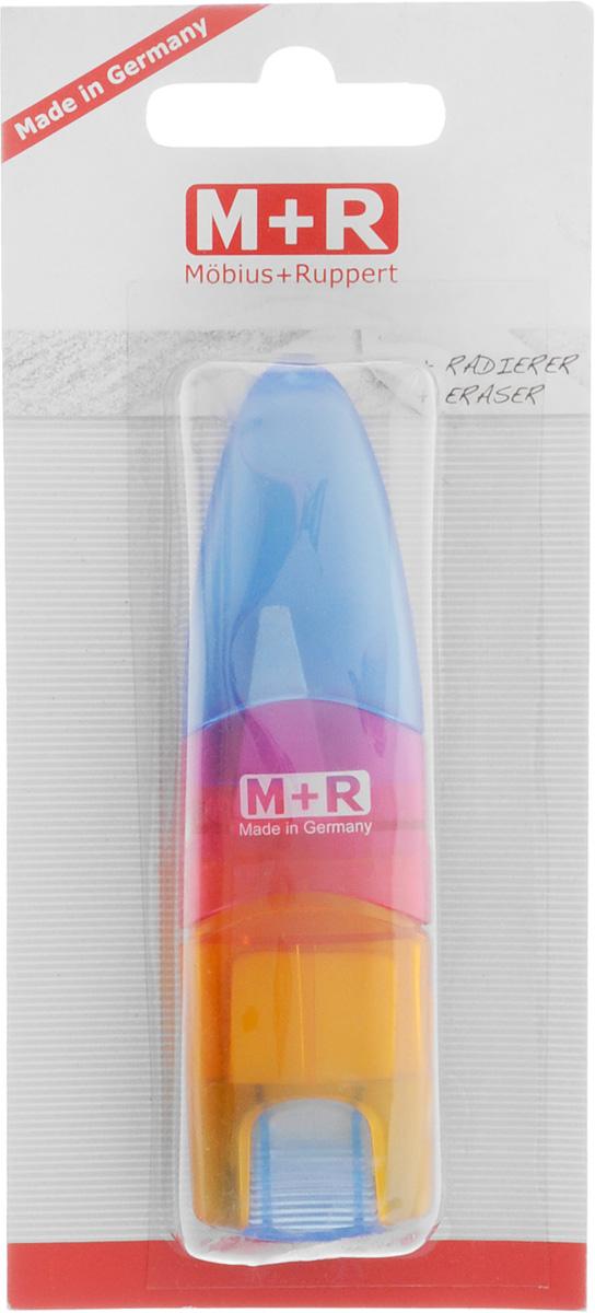 M+R Точилка Ellipstick Swing с ластиком цвет голубой розовый оранжевый0945-0002_голубой,розовый,оранжевыйУдобная точилка в пластиковом корпусе с крышкой M+R Ellipstick Swing предназначена для затачивания карандашей. Острое лезвие точилки обеспечивает высококачественную и точную заточку карандашей. Карандаш затачивается легко и аккуратно, а опилки после заточки остаются в специальном контейнере. Точилка снабжена ластиком, закрывающимся колпачком.