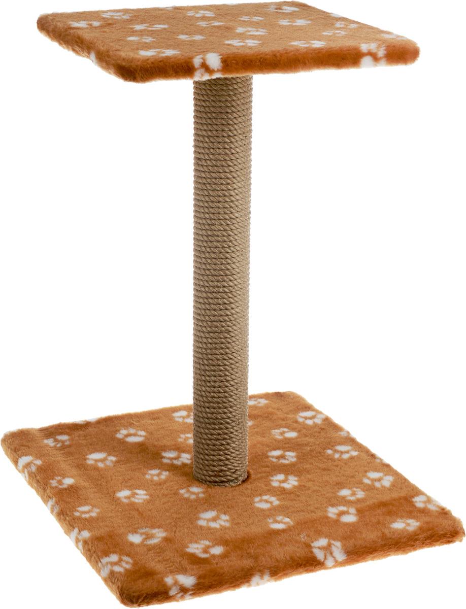 Когтеточка Меридиан Зонтик, цвет: коричневый, белый, бежевый, 40 х 40 х 50 смК506 Ла_рыжийКогтеточка Меридиан Зонтик поможет сохранить мебель и ковры в доме от когтей вашего любимца, стремящегося удовлетворить свою естественную потребность точить когти. Когтеточка изготовлена из дерева, искусственного меха и джута. Товар продуман в мельчайших деталях и, несомненно, понравится вашей кошке. Сверху имеется полка. Всем кошкам необходимо стачивать когти. Когтеточка - один из самых необходимых аксессуаров для кошки. Для приучения к когтеточке можно натереть ее сухой валерьянкой или кошачьей мятой. Когтеточка поможет вашему любимцу стачивать когти и при этом не портить вашу мебель. Размер основания: 40 х 40 см. Высота когтеточки: 50 см. Размер полки: 31 х 31 см.