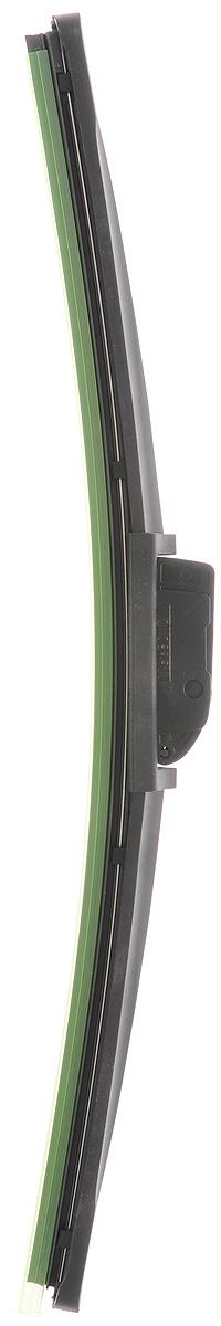 Щетка стеклоочистителя Wonderful, бескаркасная, с тефлоном, с 10 адаптерами, длина 35 см, 1 шт901919Бескаркасная универсальная щетка Wonderful, выполненная по современной технологии из высококачественных материалов, предназначена для установки на переднее стекло автомобиля. Направляющая шина, расположенная внутри чистящего полотна, равномерно распределяет прижимное усилие по всей длине, точно повторяя рельеф щетки, что обеспечивает наиболее полное очищение стекла за один проход. Отличается высоким качеством исполнения и оптимально подходит для замены оригинальных щеток, установленных на конвейере. Обеспечивает качественную очистку стекла в любую погоду. Изделие оснащено 10 адаптерами, которые превосходно подходят для наиболее распространенных типов креплений. Простой и быстрый монтаж.