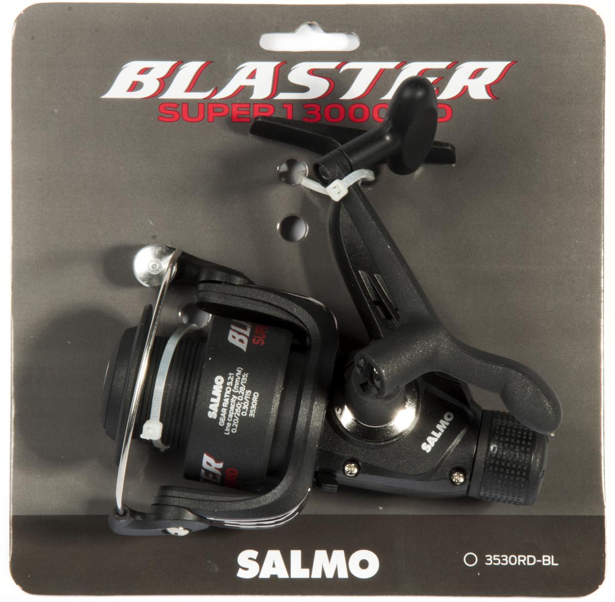 Катушка безынерционная Salmo Blaster SUPER 1 30RD, цвет: черный3530RD-BLБюджетная серия катушек BLASTER предназначена, в первую очередь, для начинающих рыболовов. Эти катушки могут с успехом использоваться у опытных рыболовов как резервные катушки или для комплектации поплавочных удилищ и донных снастей. - Тормоз фрикционный задний RD - 1 подшипник шариковый - Включатель антиреверса флажковый нижний - Корпус карбопластовый - Шпуля пластиковая (графитовая) - Рукоятка: - с винтовым типом фиксации - с возможностью право/левосторонней установки - Картонная подложка (для магазинов самообслуживания)