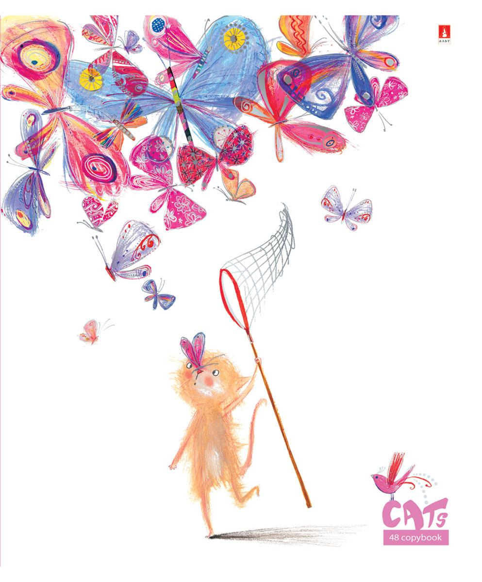 Альт Тетрадь Праздник Кошки 48 листов в клетку Вид 1SMA510-V8-ETТетрадь из серии Праздник. Кошки прекрасно подойдет для учащихся средней школы и старших классов. Двойная обложка тетради выполнена в креативном нарисованном стиле с мультяшными кошками. Лицевая сторона изготовлена из плотного экологически чистого картона. Гибридный лак, нанесенный на отдельные части рисунка, создает интересный эффект матового пластика. Отделка серебряной фольгой добавляет легкий блеск. Внутренний блок состоит из 48 листов белой бумаги. Страницы размечены стандартной линовкой в клетку и дополнены полями, совпадающими с лицевой и оборотной стороны листа.