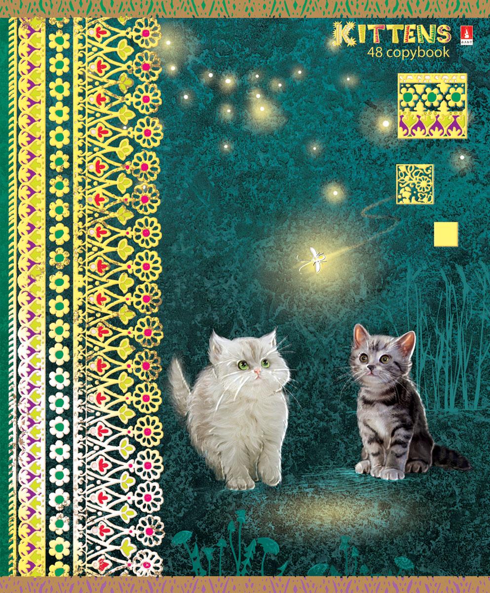 Альт Тетрадь Кошки-мышки 48 листов в клетку вид 37-48-624Тетрадь Альт Кошки-мышки отлично подойдет для занятий школьнику, студенту или для различных записей. Обложка тетради с закругленными уголками выполнена из качественного экологически чистого картона и покрыта гибридным лаком. Лицевая сторона оформлена изображением белого и серого котенка, смотрящих на светлячка. Внутренний блок тетради, соединенный двумя металлическими скрепками, состоит из 48 листов первосортной бумаги белого цвета формата А5. Четкая линовка точно совпадает с обеих сторон каждого листа. Поля отмечены красным цветом. Вне зависимости от породы очарование и трогательность этих малышей не оставят равнодушными взрослых и детей.