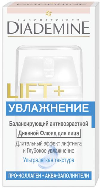 Diademine LIFT+Увлажнение Флюид для лица, 50 мл2083499LIFT+ УВЛАЖНЕНИЕ Дневной Флюид, разработан специально для смешанной кожи и сочетает 2 мощных антивозрастных действия: Формула с Про-Коллагеном воздействует на 5 наиболее важных типов кол- лагена в коже, укрепляя его структурную сеть. В результате достигается эффект лифтинга и повышается упругость кожи. Аква-Заполнители и Гиалурон способствуют естественному восполнению запаса влаги, придавая коже свежесть, мягкость и более здоровый вид.