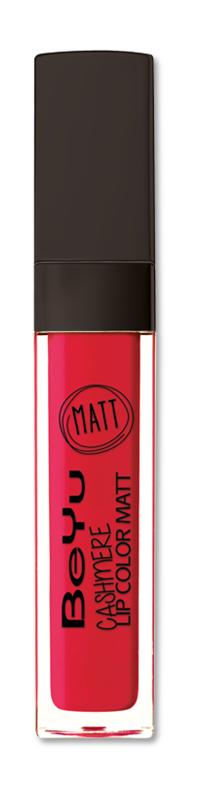 BeYu Помада для губ матовая стойкая Cashmere Lip Color Matt 56 6,5 мл1301207Стойкая жидкая помада с матовым эффектом и нежной текстурой. Идеально держится на губах весь день, не растекается и не скатывается. Модное матовое покрытие ставит яркий акцент на улыбке, насыщенные оттенки помады усиливает эффект. Макияж губ выглядит выразительно и чувственно. Помада легко наносится благодаряю удобному закругленному аппликатору.