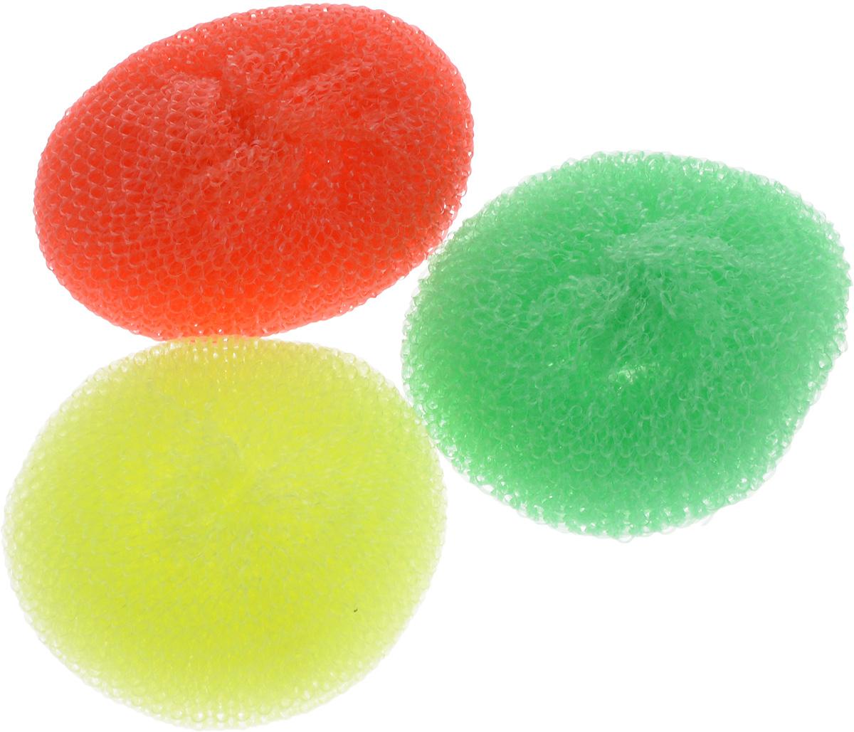 Губка для мытья посуды Фозет Ассорти, цвет: желтый, зеленый, красный, 3 шт2401007_желтый, зеленый, красныйКомплект губок Фозет Ассорти изготовлен из пластика и предназначен для очистки посуды и рабочих поверхностей от стойких загрязнений. Не повреждает поверхность. Изделия не царапают руки, хорошо промываются под струей воды. Размер губки: 8 х 8 х 2,5 см.