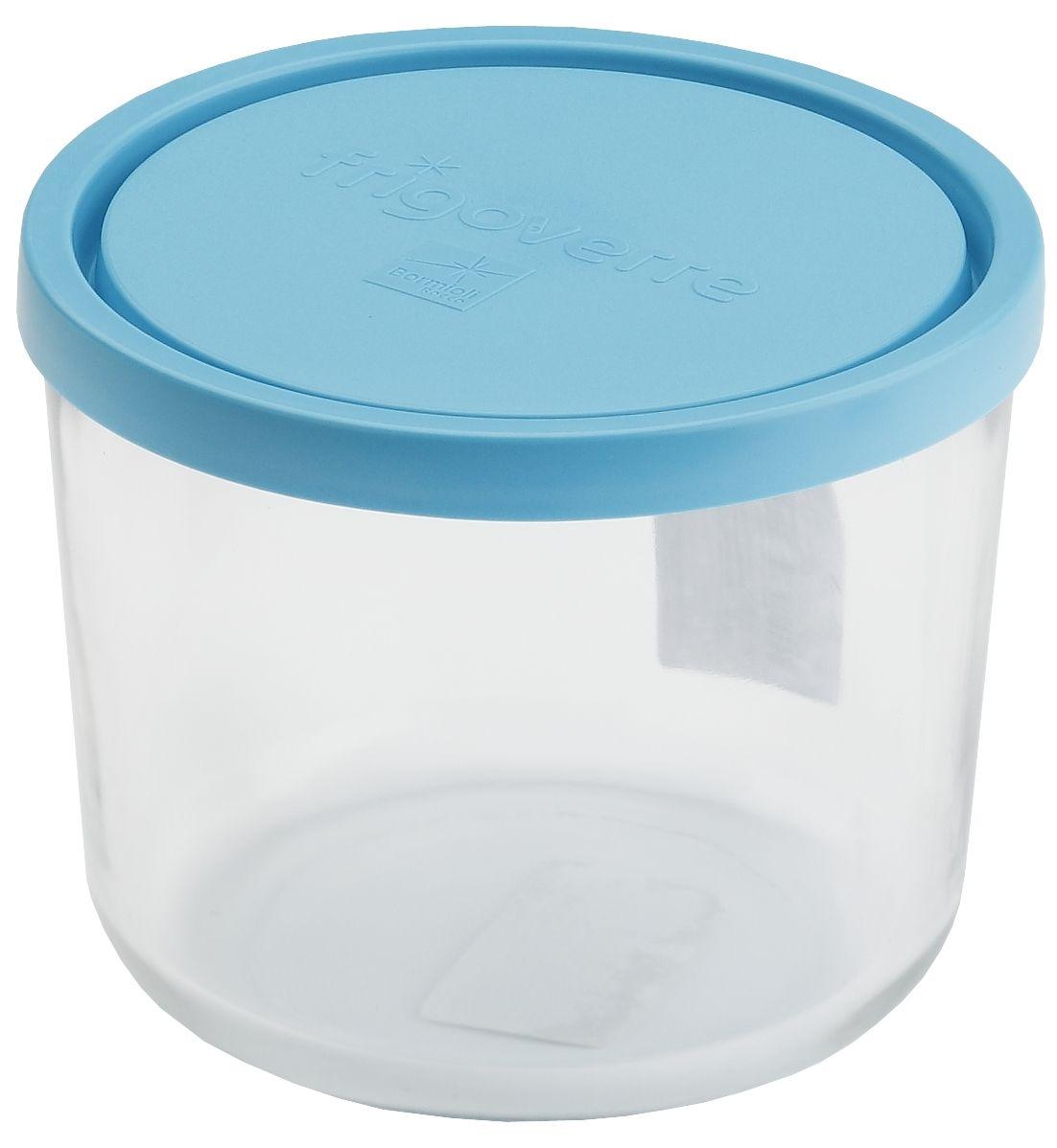 Контейнер Bormioli Rocco Frigoverre, круглый, цвет крышки: синий, 700 млB339140-1Bormioli Rocco Стеклянный контейнер для хранения пищи Frigoverre с синей крышкой круглый высокий d-12 см, 700 мл. Из холодильника сразу в микроволновую печь! Выдерживают температурный удар от – 20С до +70С. Безопасны для хранения готовых продуктов. Не содержат Бисфенол А. BPA Free. Закаленное стекло. В 5 раз повышена ударостойкость. Устойчивы к царапинам и сколам. Удобство использования. Изделия легко моются. Можно использовать в посудомоечной машине. Настоящее итальянское качество!