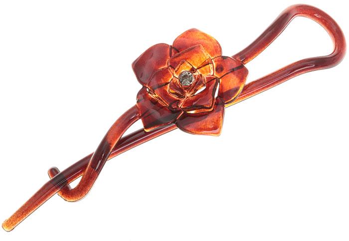 Заколка-шпилька для волос. Целлюлоза, акрил, страз. Krikos, КитайAP028Заколка-шпилька для волос. Целлюлоза, акрил, страз. Krikos, Китай. Размер - 11 х 3 см.
