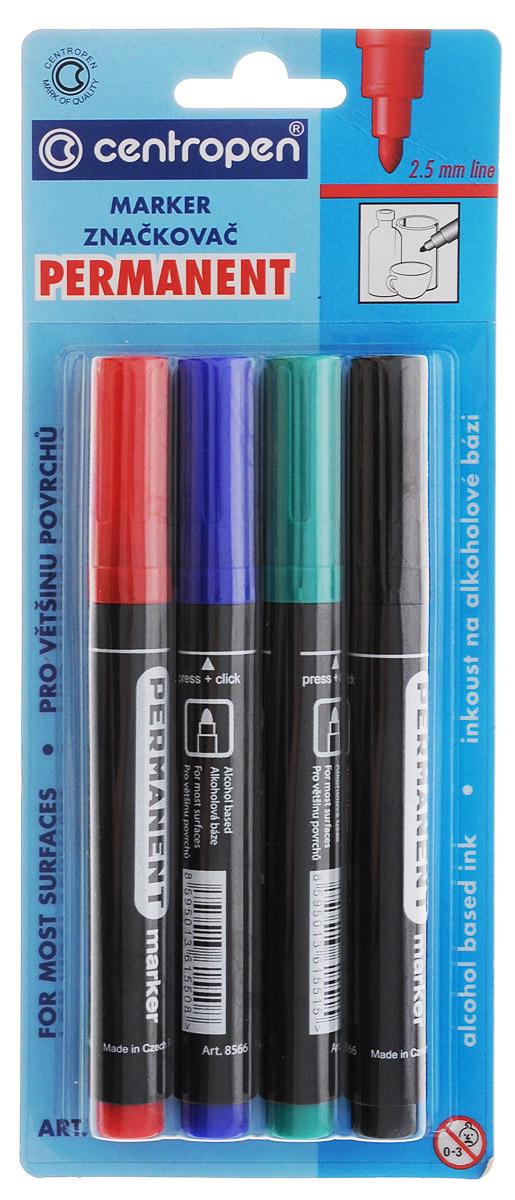 Centropen Набор перманентных маркеров 4 цвета72523WDНабор перманентных маркеров Centropen предназначен для письма и рисования на разных листах бумаги. Особенности чернил таковы, что они не пропитывают бумагу и позволяют использовать лист с двух сторон.Маркеры снабжены круглым наконечником и плотно защелкивающимися колпачками (цвет маркера соответствует цвету чернил). В наборе 4 маркера и 4 разных цветов. Рекомендуемый возраст до 3-х лет.