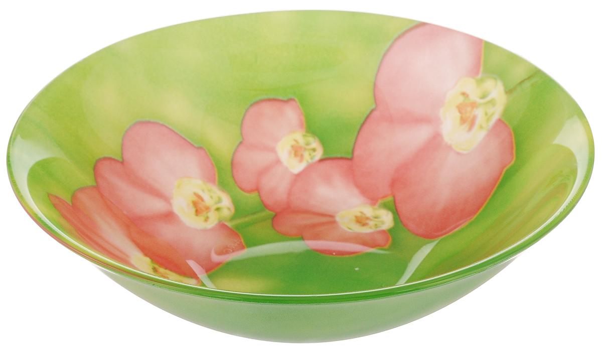 Салатник Luminarc Carina Erine, диаметр 16,5 см115510Салатник Luminarc Carina Erine выполнен из высококачественного стекла и украшен ярким цветочным рисунком. Он прекрасно впишется в интерьер вашей кухни и станет достойным дополнением к кухонному инвентарю. Салатник Luminarc Carina Erine подчеркнет прекрасный вкус хозяйки и станет отличным подарком.Можно мыть в посудомоечной машине и использовать в СВЧ.Диаметр салатника (по верхнему краю): 16,5 см.Высота стенки салатника: 5 см.