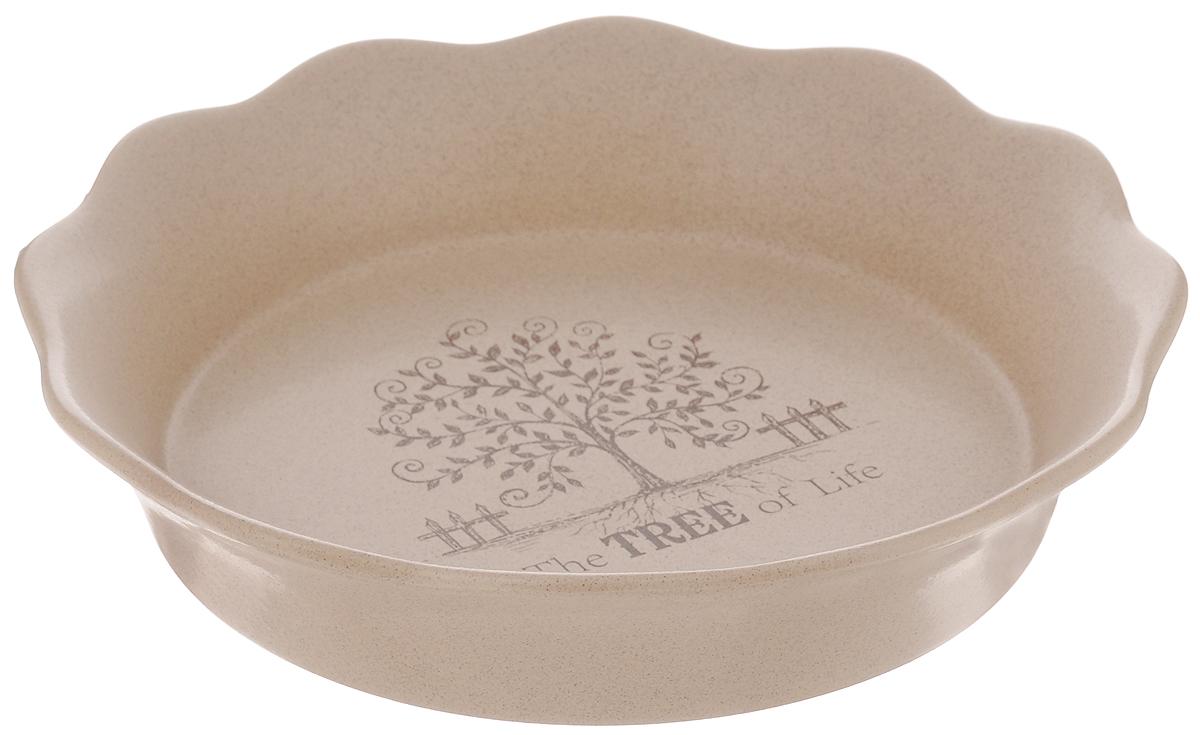 Форма для выпечки Terracotta Дерево жизни, диаметр 26 смTLY081-TL-ALФорма для выпечки Terracotta Дерево жизни изготовлена из высококачественной керамики. Керамическая посуда имеет множество преимуществ, например, отсутствие выделений химических примесей, равномерный нагрев и долгое сохранение температуры позволяют придавать особый аромат пище, сохранять витамины и другие ценные питательные вещества. Изделие идеально подходит для выпечки, приготовления различных блюд и разогревания пищи в духовом шкафу или микроволновой печи, а также для хранения продуктов, в том числе в холодильнике. Форма Terracotta Дерево жизни станет отличным дополнением к вашему кухонному инвентарю, а также украсит сервировку стола и подчеркнет ваш прекрасный вкус. Можно использовать в микроволновой печи и духовке. Допускается мыть в посудомоечной машине. Диаметр формы (по верхнему краю): 26 см. Высота формы: 5,5 см.