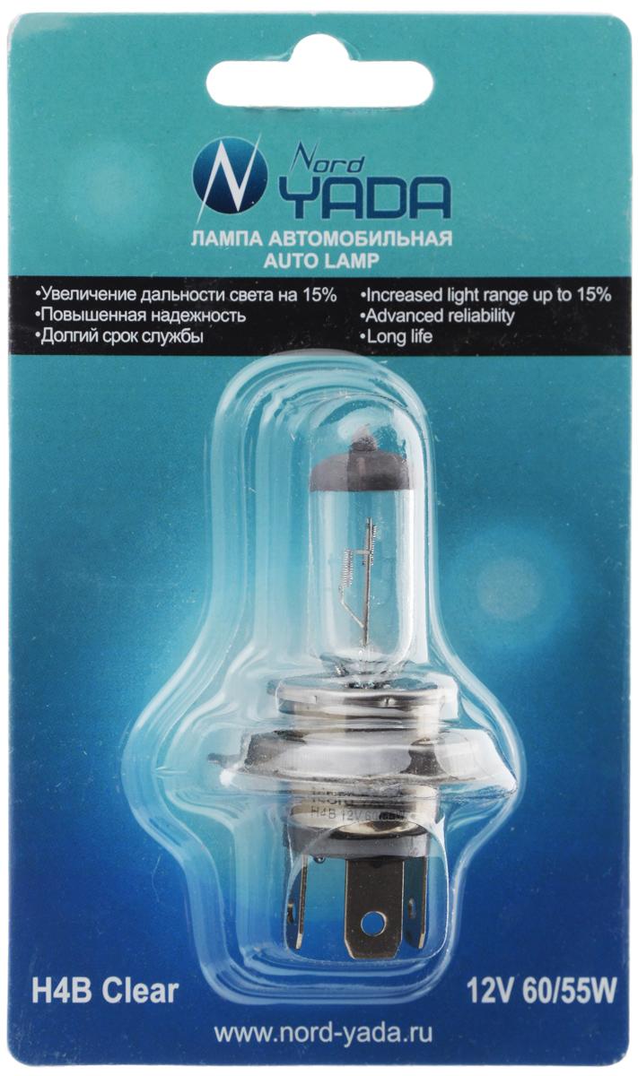 Лампа автомобильная галогенная Nord YADA Clear, цоколь H4B, 12V, 60/55W. 902142902142Лампа автомобильная галогенная Nord YADA Clear - это электрическая галогенная лампа с вольфрамовой нитью для автомобилей и других моторных транспортных средств. Виброустойчива, надежна, имеет долгий срок службы, увеличивает дальность света на 15%. Галогенные лампы предназначены для использования в фарах ближнего, дальнего и противотуманного света. Серия Clear обеспечивает водителю классический оттенок светового пятна на дороге, к которому привыкло большинство водителей.