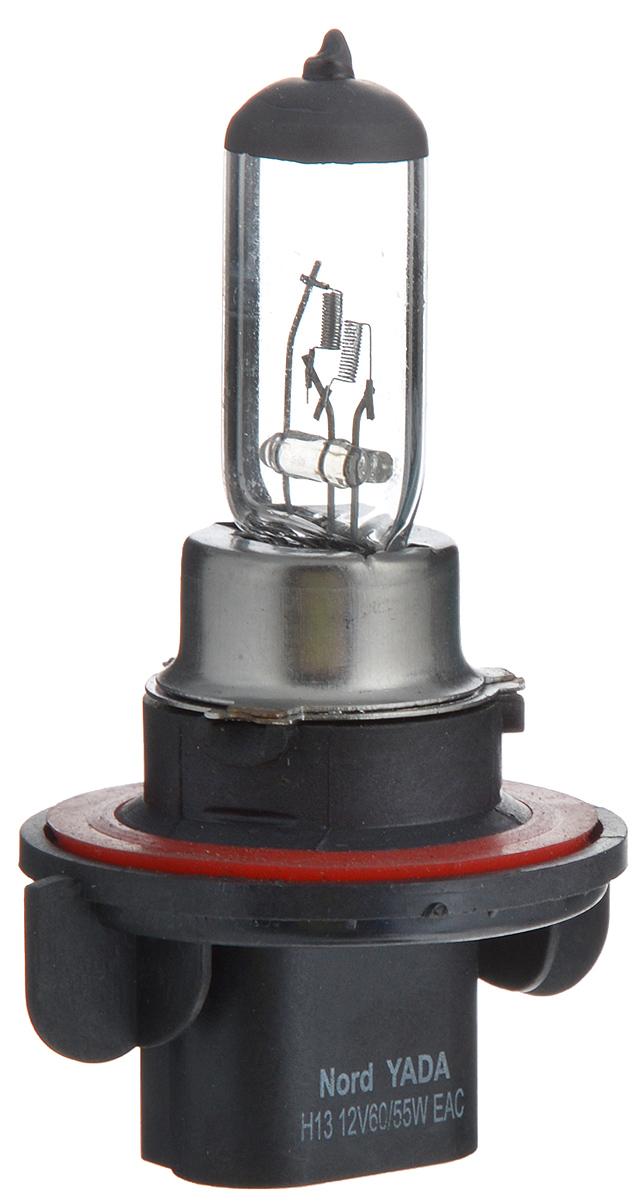 Лампа автомобильная галогенная Nord YADA Clear, цоколь H13, 12V, 60/55W900112Лампа автомобильная галогенная Nord YADA Clear - это электрическая галогенная лампа с вольфрамовой нитью для автомобилей и других моторных транспортных средств. Виброустойчива, надежна, имеет долгий срок службы. Галогенные лампы предназначены для использования в фарах ближнего, дальнего и противотуманного света. Серия Clear обеспечивает водителю классический оттенок светового пятна на дороге, к которому привыкло большинство водителей.