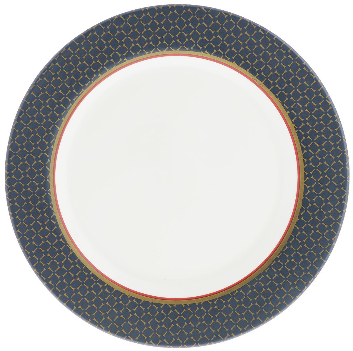 Тарелка обеденная Luminarc Alto Saphir, диаметр 27 см115610Обеденная тарелка Luminarc Alto Saphir, изготовленная из высококачественного стекла,имеет изысканный внешний вид. Такой дизайн придется по вкусу и ценителям классики,и тем, кто предпочитает утонченность. Тарелка Luminarc Alto Saphir идеально подойдет для сервировкистола и станет отличным подарком к любому празднику.