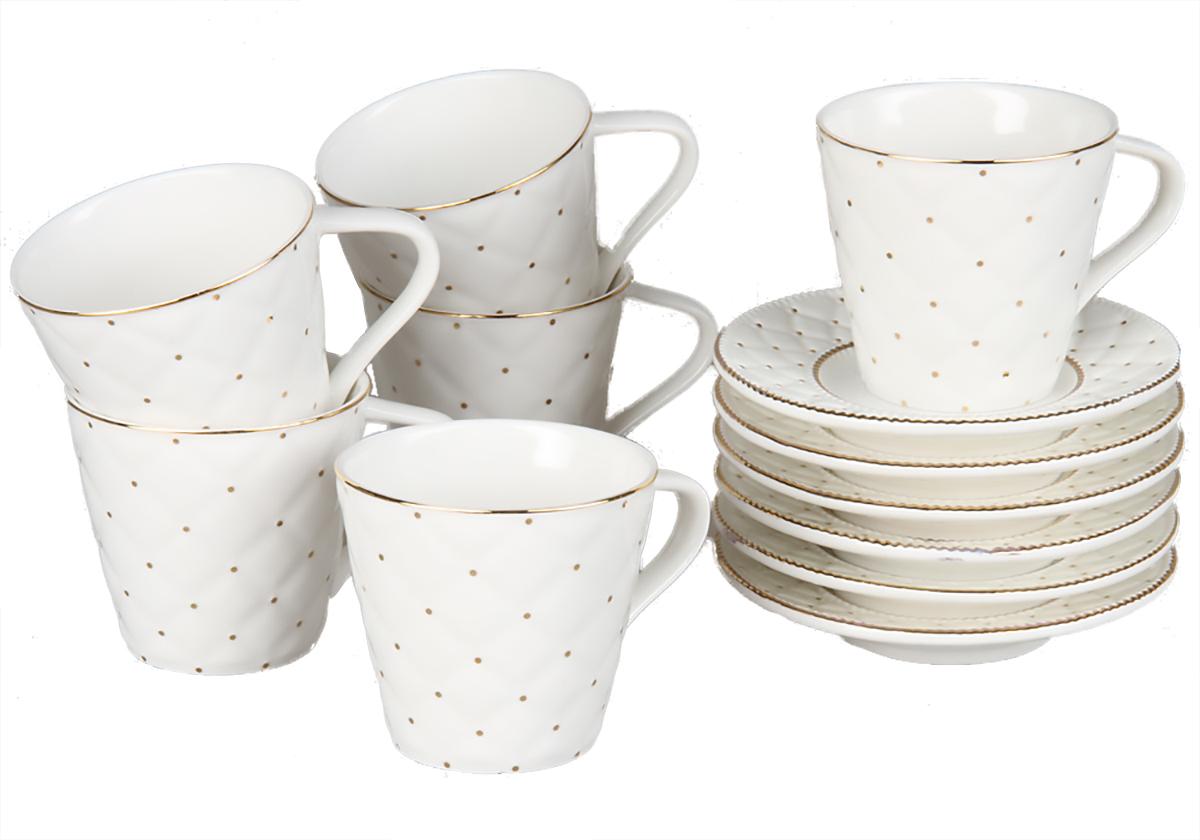 Кофейный набор Rosenberg, 12 предметов, 120мл. 871377.858@22981кофейный набор, 12 предметов, чашка 100мл блюдце 10 х 10 см