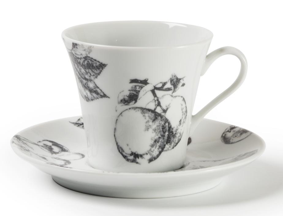 Кофейная пара La Rose Des Sables Black Apple, 100 мл733510 2241Фарфор производится в Тунисе из знаменитой своим качеством и белизной глины, добываемой во французской провинции Лимож. Преимущества этого фарфора заключаются в устойчивости к сколам и трещинам, что возможно благодаря двойному термическому обжигу. Лиможский фарфор не содержит включений тяжелых металлов, что соответствует мировым и российским санитарным требованиям. Данную серию можно использовать в СВЧ и посудомоечной машине. Приобретая лиможский фарфор, вы становитесь обладателем древних традиций и искусства фарфора.