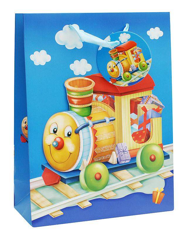 Пакет подарочный Белоснежка Паровозик, 18 х 24 х 8 см1025-SBПакет подарочный Паровозик выполнен из качественной плотной бумаги с хорошей печатью, объемные элементы на пакете придают дополнительный яркий акцент.