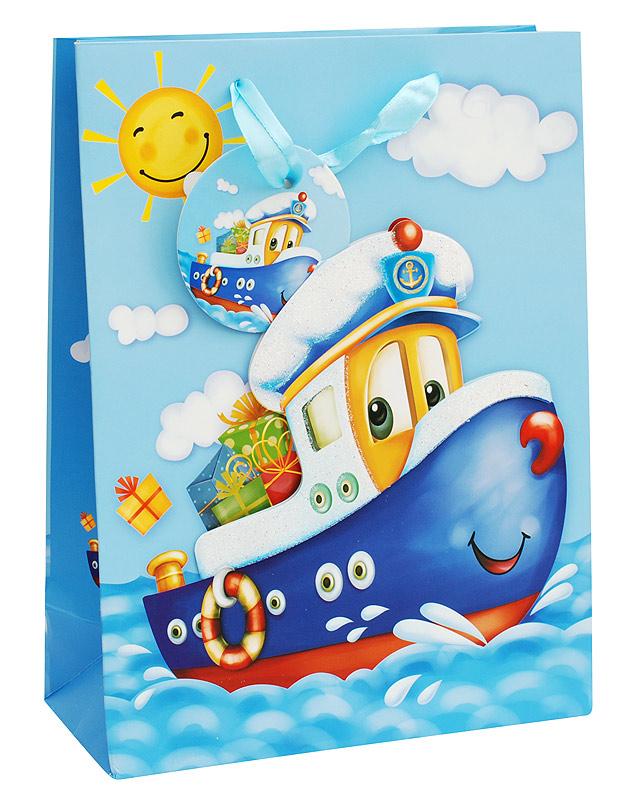 Пакет подарочный Белоснежка Кораблик, 18 х 24 х 8 см09840-20.000.00Подарочный пакет Кораблик выполнен из качественной плотной бумаги с хорошей печатью, объемные элементы на пакете придают дополнительный яркий акцент.
