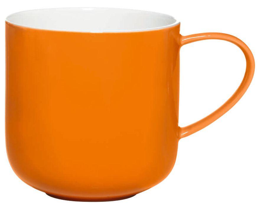 Чашка Asa Selection Coppa, 410 мл, цвет: оранжевый. 19100/807115610Чашка фарфоровая двухцветная COPPA. Объем: 0,41 литра. Материал: костяной фарфор. Цвет: оранжевый.